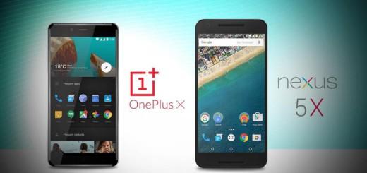 OnePlus X и LG Nexus 5X