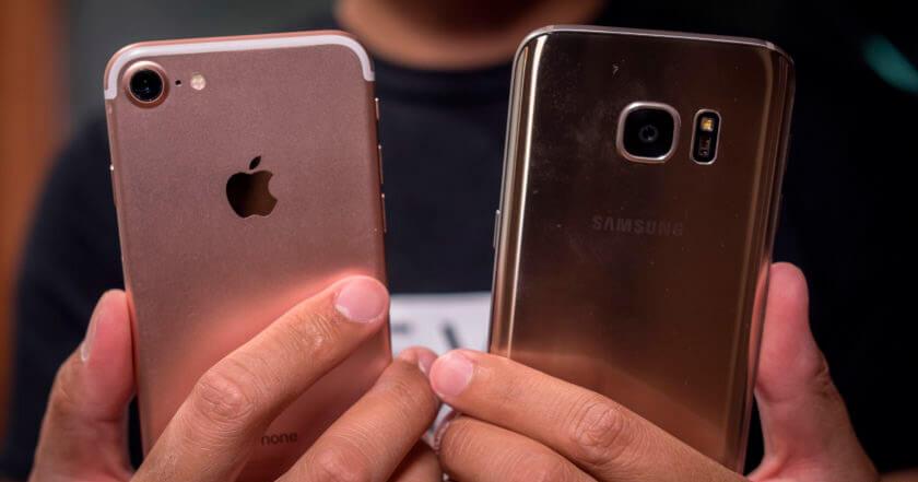Сравнение смартфонов iPhone 7 и Samsung Galaxy S7