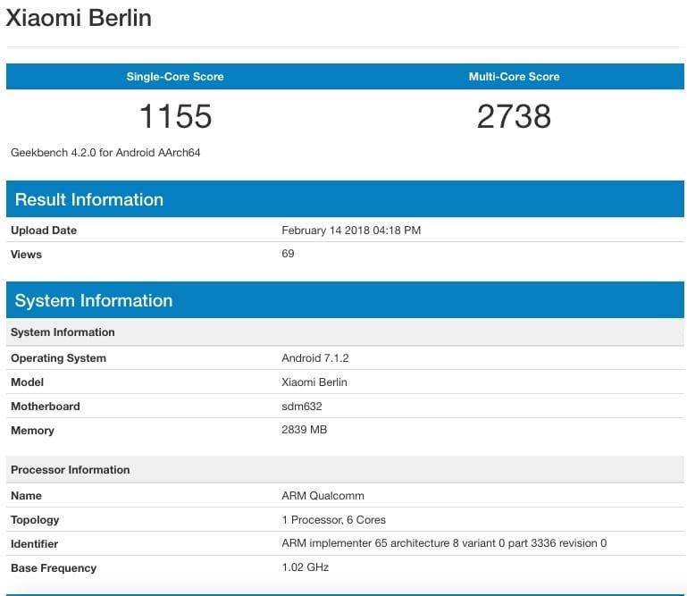 Xiaomi Berlin - Antutu