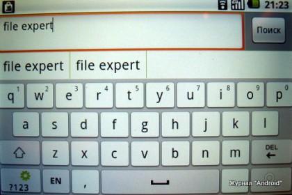 """Набираем в поиске """"File Expert"""""""