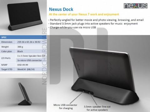 Докстанция для Nexus 7
