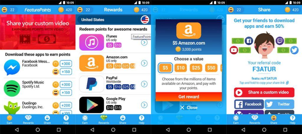 Приложения для заработка на Android - FeaturePoints