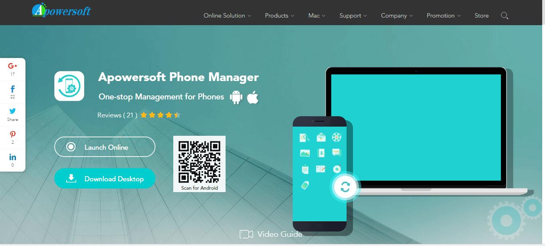 Apowersoft Phone Manager - удаленное управление android