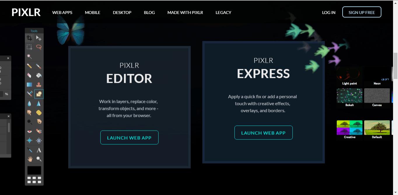 Pixlr - онлайн фоторедактор