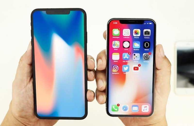 iPhone X и iPhone 6.1