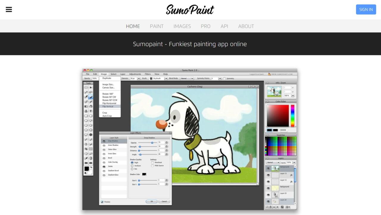 Фоторедактор Sumo Paint