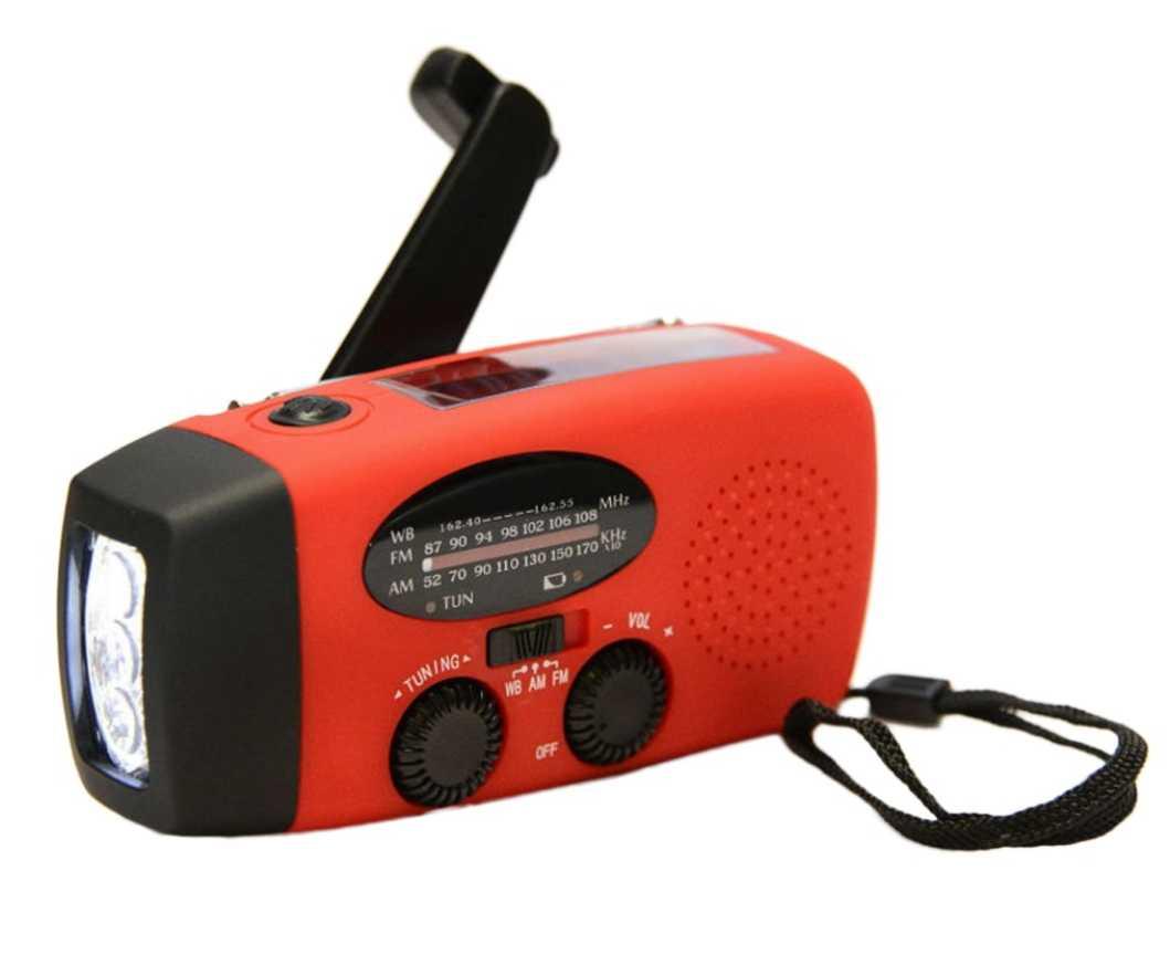 Динамо радио приёмник со встроенным фонариком