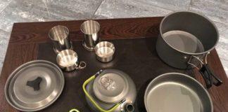 Недорогой походный набор посуды