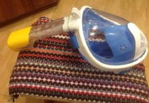 Технологичная маска для ныряния