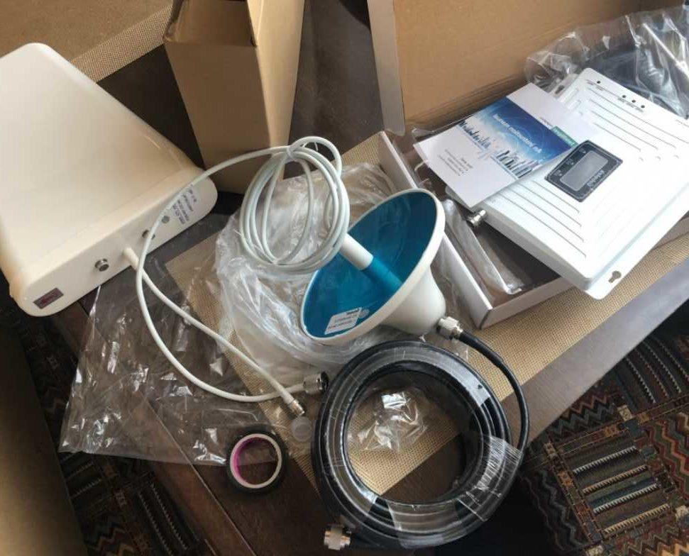 Комплект усилитель + репитер с поддержкой 3G и 4G
