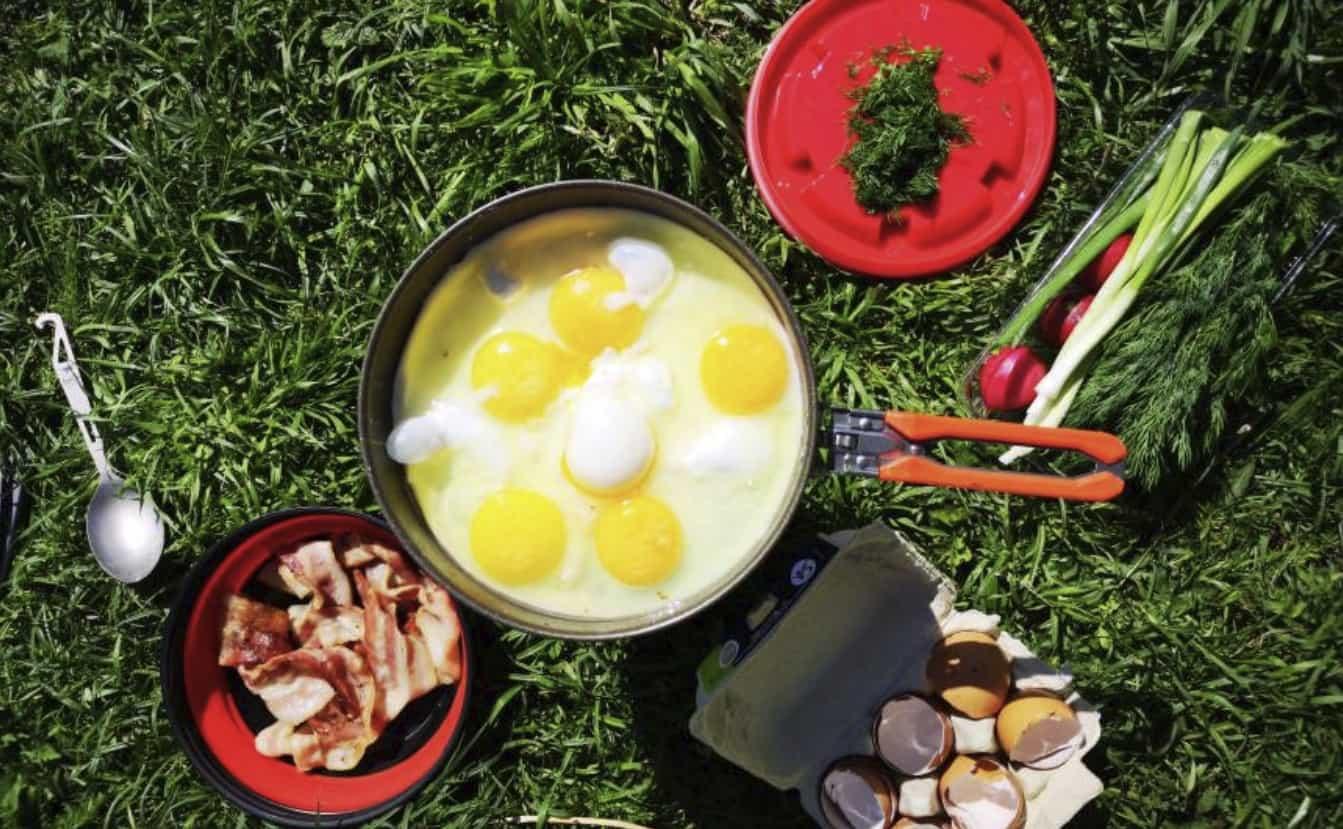 Сковорода для кеСковорода для кемпинга с антипригарным покрытиеммпинга с антипригарным покрытием (2)