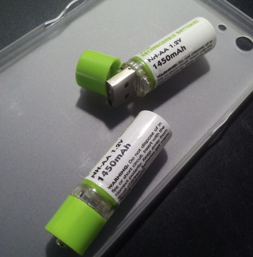 USB аккумулятор формата AA