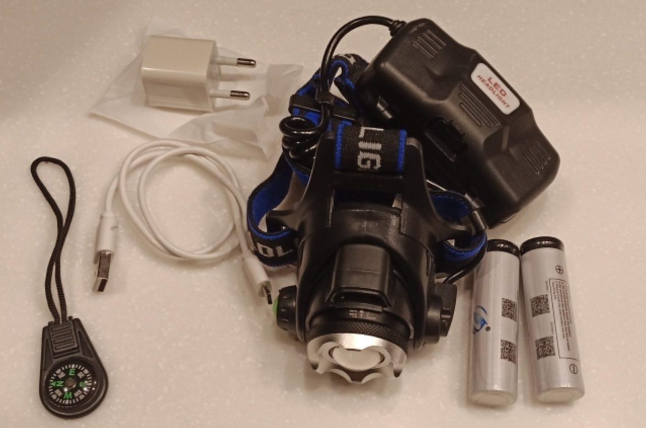 Налобный фонарик с мощными аккумуляторами