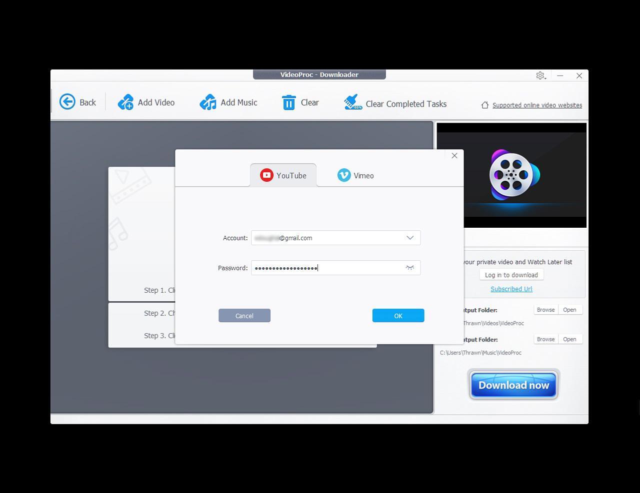 Интерфейс программы VideoProc