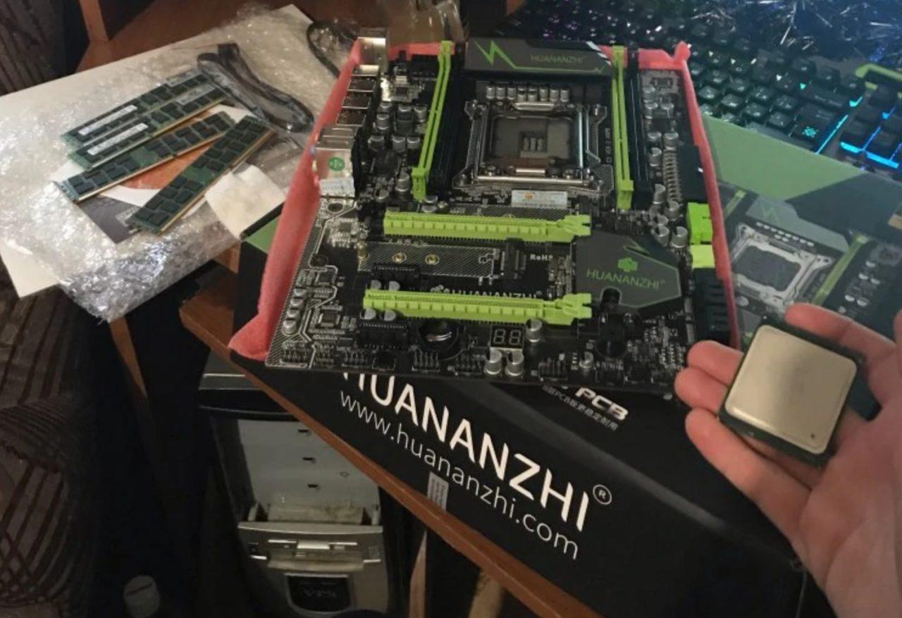 Готовая сборка HUANANZHI X79 Pro