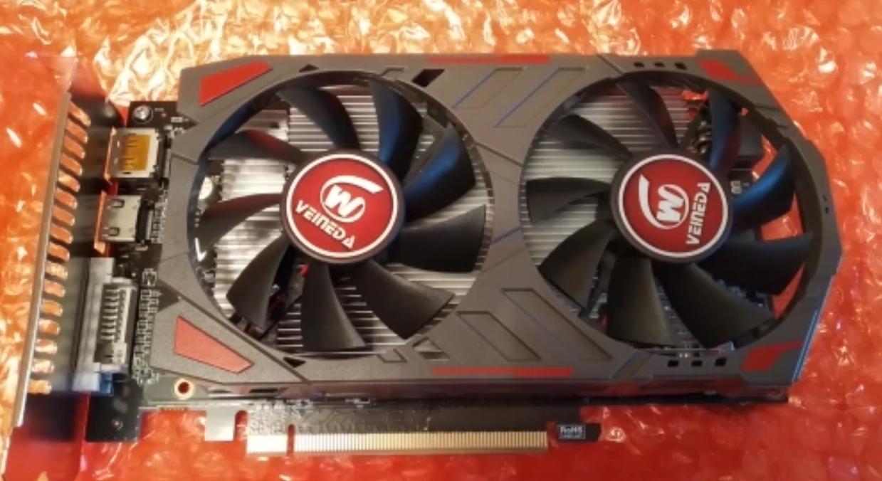 Бюджетная видеокарта VEINIDA Radeon RX 560D на 4 Гб