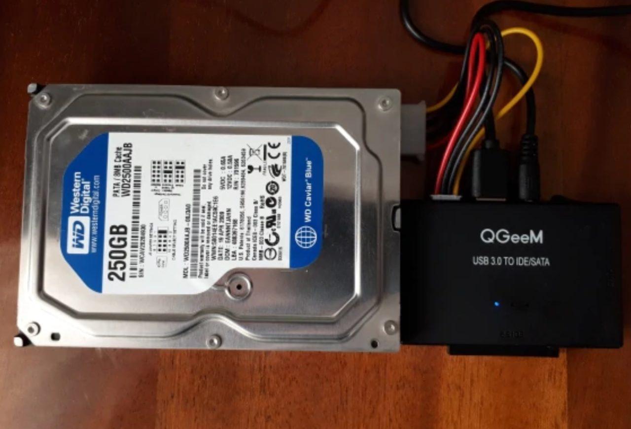 Внешний переходник SATA-USB QGeeM
